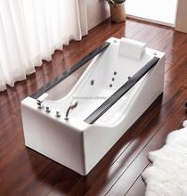 Hot sale freestanding glass bathtub with Jacuzzy function/whirlpool bathtub/acrylic bathtub