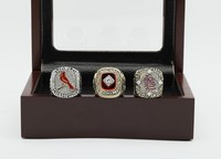 SJCR04 Alibaba Gold Supplier MLB St Louis Cardinals Three Pieces Classic Championship Ring With Luxury Box Four Sizes Options