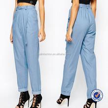 women office wear clothing fashion 100% rayon long shirts trousers for women