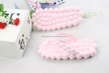 Stone massage slippers /women fancy slippers/ladies slippers color pictures