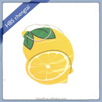 Customized design air car freshener with logo fruit scents