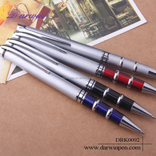 Metal Silver Ring Design Promtional Signing Pen