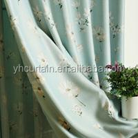 2014 hot sale royal & model fancy simple curtain design window cotton curtain