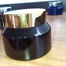 plastic wooden jars cosmetic bottle black glass