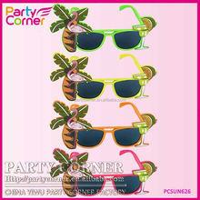 Flamingo Hawaiian Glasses