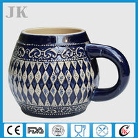 Cheap German porcelain beer stein with good design