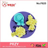 flower shape silicone cupcake mold
