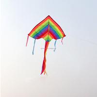 Fashion Handle Line Outdoor Fun Sports Kite Flying Kids Rainbow Outdoor Fun Sports For Children Toys Gift
