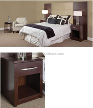 Cherry hotel furniture bedroom set wooden bed side table with HPL