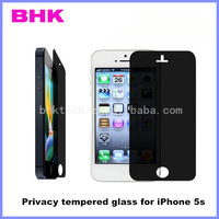 9H anti-shock anti-glare privacy tempered glass for iPhone 5s,privacy tempered glass screen protector for iPhone 5s