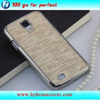 Gold Electroplated Protective Plastic Case for Samsung Galaxy S4, hard case for i9500