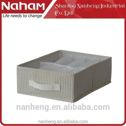 Naham high quality 7 Sections foldable underwear/socks storage box