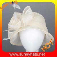 Plain sinamay church hat for Ladies