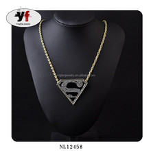Wholesale Gold Chain Crystal Fashion Letter P Pendant Jewelry