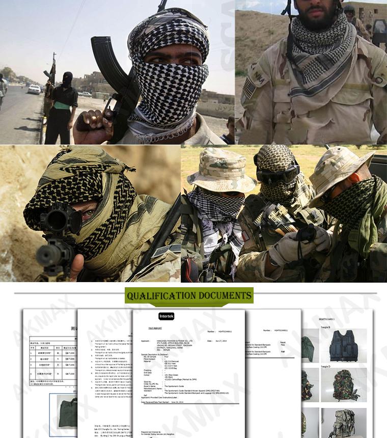 Shemagh KEFFIYEH CHECHE deserto militar lenço árabe