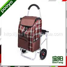 wheeled trolley bag for promotion reusable non woven shopping bag purple