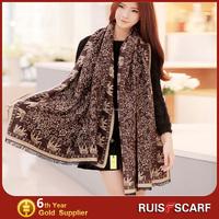 high quality retail animal printed scarf plain cotton scarf
