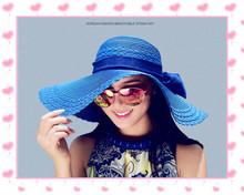 bownot summer straw hat Beach sunscreen hat Female spring cap folding beach hat