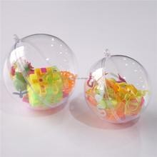 Presente bola redonda vidro estilo claro bola enfeites de natal