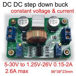 Step down DC transformer constant voltage / current dimmable led driver 1.25V-26V 0.2A-2A Voltage regulator