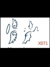 Fashion sexy angel and demon wings tattoo sticker