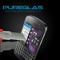 OEM super tempered glass screen protector for blackberry q10 supplier,100% pure tempered glass screen protector for blackberry