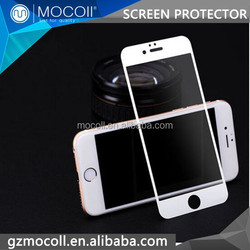 White Color Tempered Glass Front Full Screen Cover Skin Guard For iPhone 6