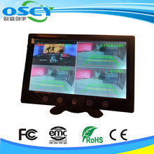 "9"" 4 split lcd monitor with 4 AV inputs"
