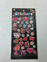 new *animal 3D sticker set/puffy sticker for kids/used for everyday party