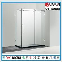 Alibaba golden member 8mm Tempered Glass bathroom shower bath
