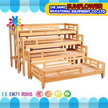 Kindergarten Furniture Wooden Kids Bed, Kids Daycare Beds, Kids Four-Layer Push-and-pull Bed Sliding Bed XYH-0076