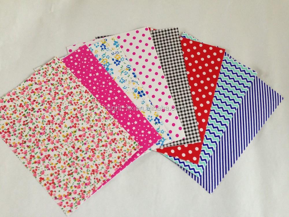 Glue Fabric Book Cover : Auto adhesivo de tela hoja para handcraft portada del