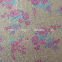 Small flower spun gold lurex yard woven fabric