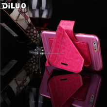 2015 Diluo New Arrival Genuine Designer PU Protect,Transformers Leather Dot View Case For Iphone 6