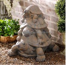 24 inch 3 Turtles Outdoor Tortoise Decoration Garden Statue