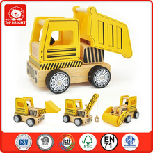 Assembled and changeable construction set wooden toy confirm to EN71