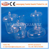 Clear quartz crucibles with lid or not