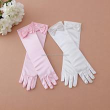 super lovely for child pick white ice spandex dress gloves elsa cosplay QCGV-1597