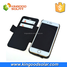 MFI certificated original plug flexible 3500mah solar charger case for iphone6