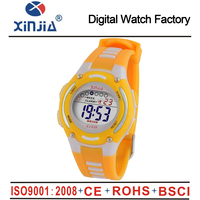 2014 fancy cheap customized white digital women watch for lady