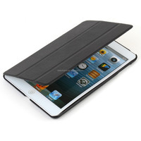 Shockproof luxury stand PU leather case back cover for Ipad3