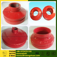 ISO/ FM/ UL/ CCC Approved Ductile Iron Grooved pipe fitting reducer