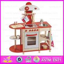 2015 New arrival wooden play kitchen set toy,Cheap kitchen cabinet toy,Best wooden kitchen sets toy for mother garden W10C105-R