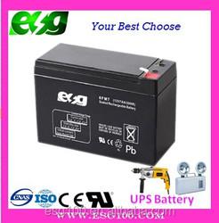 12v 7ah sealed lead acid UPS battery ,12v sealed VRLA UPS battery