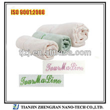 Bamboo towel with terry style of solid color