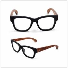 Black frame wood eyeglasses frame eyewear