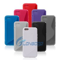 Pure Color Soft TPU Silicone Fashion Phone Case For Apple IPhone 5C
