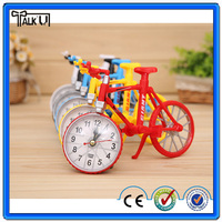 Good quality metal black bicycle moulding table alarm clocks/White Bicycle table alarm clocks/red bicycle table alarm clocks