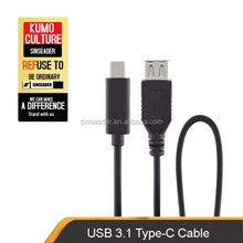 New product USB 3.1 cable,USB Type C to USB 2.0 A F,C type connector