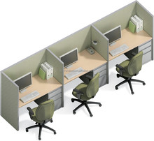 Modern design office partition, call center cubicles ,simple office workstation N004